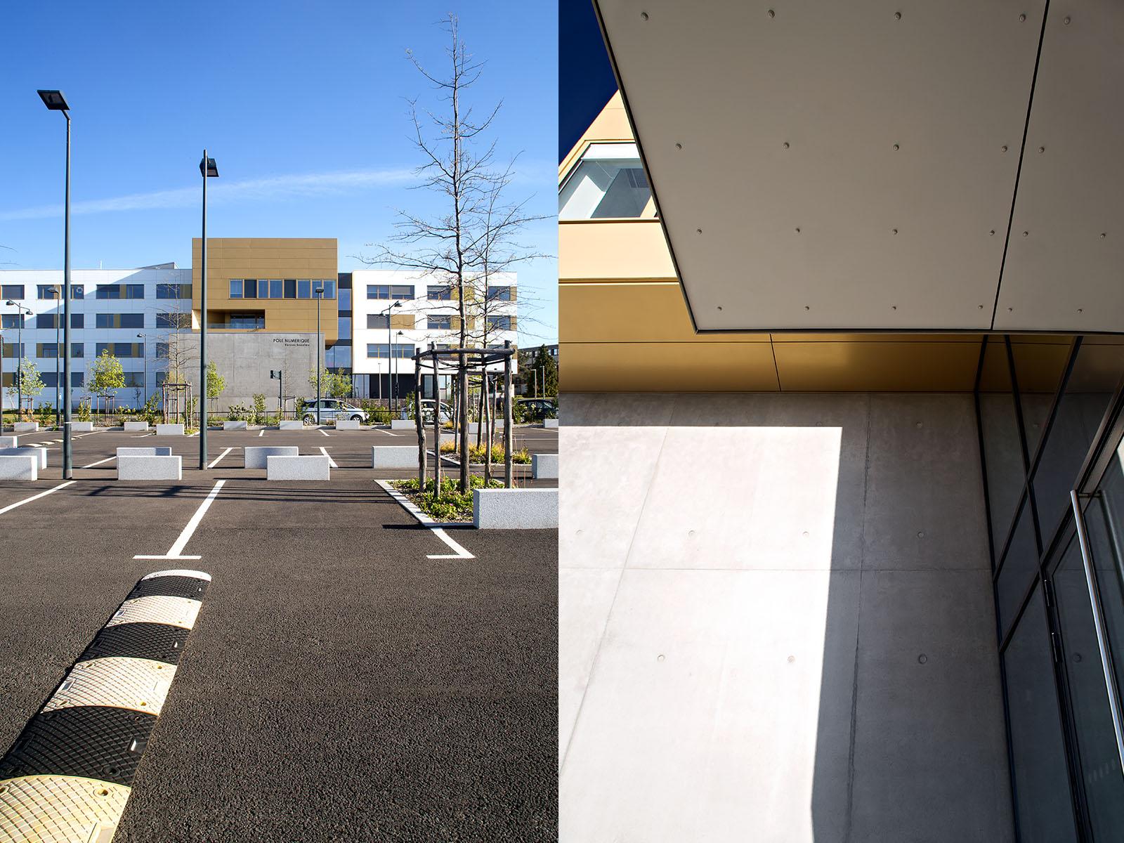 reportage d 39 architecture rennes pole num rique beaulieu gw naelle hoyet d coratrice d. Black Bedroom Furniture Sets. Home Design Ideas